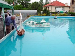 André Pinat fait du bateau